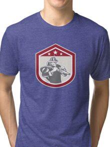 Fireman Firefighter Emergency Worker Tri-blend T-Shirt