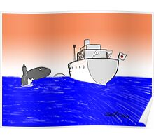 Japan banned from whale hunting Poster