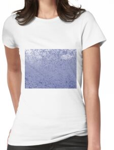 Blue Abstracts Womens Fitted T-Shirt