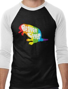 Beaver Fever Lesbian Funny Men's Baseball ¾ T-Shirt