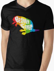 Beaver Fever Lesbian Funny Mens V-Neck T-Shirt