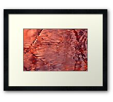 Accidental Abstract in Nature...in pink Framed Print