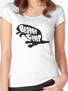 Beaver Fever Lesbian Funny Women's Fitted Scoop T-Shirt