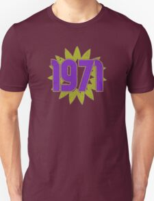 Vintage Look 1970's Funky Year Graphic 1971 Unisex T-Shirt