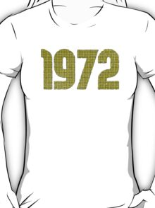 Vintage Look 1970's Funky Year Graphic 1972 T-Shirt