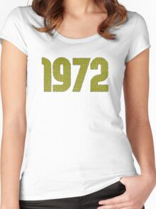 Vintage Look 1970's Funky Year Graphic 1972 Women's Fitted Scoop T-Shirt