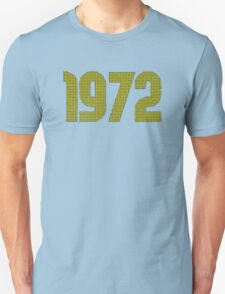 Vintage Look 1970's Funky Year Graphic 1972 Unisex T-Shirt
