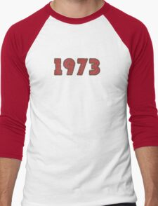 Vintage Look 1970's Funky Year Graphic 1973 Men's Baseball ¾ T-Shirt