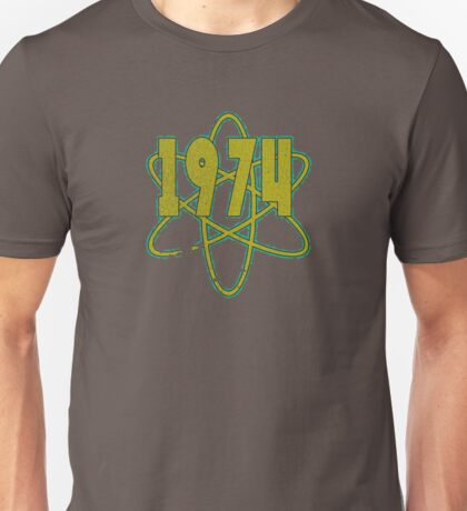 Vintage Look 1970's Funky Year Graphic 1974 Unisex T-Shirt