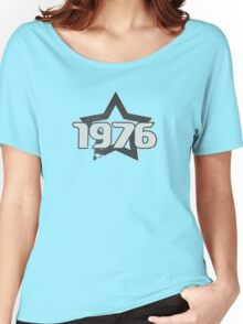 Vintage Look 1970's Funky Year Graphic 1976 Women's Relaxed Fit T-Shirt