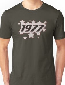 Vintage Look 1970's Funky Year Graphic 1977 Unisex T-Shirt