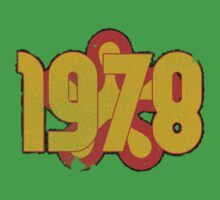 Vintage Look 1970's Funky Year Graphic 1978 Baby Tee