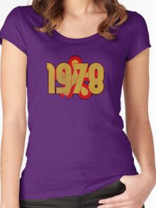 Vintage Look 1970's Funky Year Graphic 1978 Women's Fitted Scoop T-Shirt