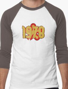 Vintage Look 1970's Funky Year Graphic 1978 Men's Baseball ¾ T-Shirt