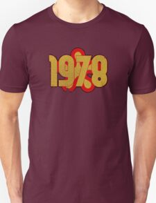 Vintage Look 1970's Funky Year Graphic 1978 Unisex T-Shirt