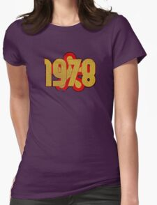 Vintage Look 1970's Funky Year Graphic 1978 Womens Fitted T-Shirt