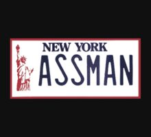 Cosmo Kramer Seinfeld - The Assman  NY car  license plate by 1to7