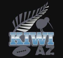 KIWI Az with cute kiwi Bird and silver fern New Zealand Kids Clothes