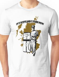 Indy Scottish North Sea Oil Our Turn T-Shirt Unisex T-Shirt