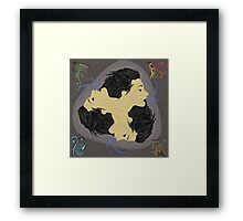 Symmetrical Dirtpaint - Spirit Smoker Framed Print
