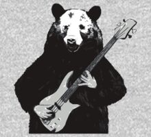 Bass Guitar Playing Bear by 1to7