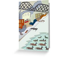 Canada Geese Under the Lowry Ave Bridge Greeting Card