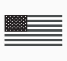 AMERICAN FLAG; STARS & STRIPES; IN GREY; USA by TOM HILL - Designer