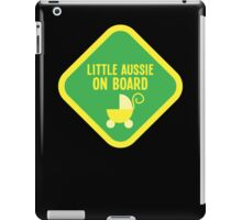Little aussie on Board (Australian) with a baby pram iPad Case/Skin
