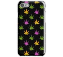 Marijuana Leaves Pattern Black iPhone Case/Skin