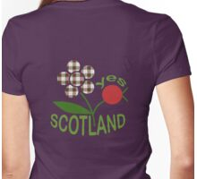 Scottish Independence Fruity Red Berry Tartan Flower T-Shirt Womens Fitted T-Shirt