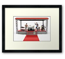 "OK, we obviously need to work on what should happen when I say, ""drum roll, please""! Framed Print"