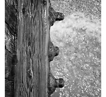 Waves under Piling Bolts Photographic Print
