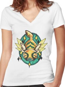 Dunsparce  Women's Fitted V-Neck T-Shirt