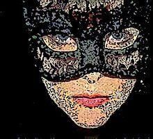 An Artist Interpretation of me as Masked Woman by Anthea  Slade