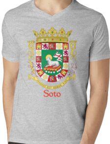 Soto Shield of Puerto Rico Mens V-Neck T-Shirt