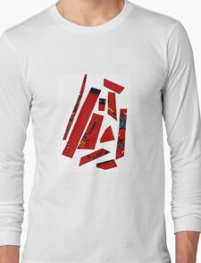 Abstract red 3 Long Sleeve T-Shirt