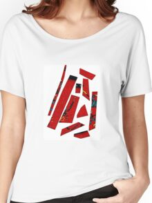 Abstract red 3 Women's Relaxed Fit T-Shirt