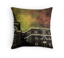 The Old Clock Tower Throw Pillow