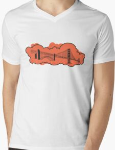 Golden Gate Bridge San Francisco Mens V-Neck T-Shirt