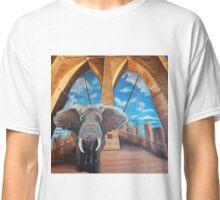 Elephant Crossing the Brooklyn Bridge Classic T-Shirt