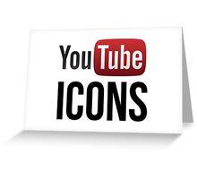 YouTube Icons logo Greeting Card