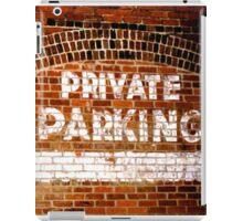 Private Parking iPad Case/Skin