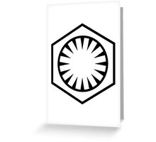 Star Wars The Force Awakens First Order  Greeting Card
