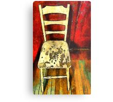 The Cream-Colored Chair Metal Print
