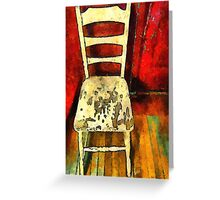 The Cream-Colored Chair Greeting Card
