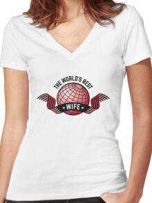 The World's Best Wife Women's Fitted V-Neck T-Shirt