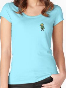 Cute Ladies Styled Toon Link T-Shirt Women's Fitted Scoop T-Shirt