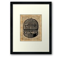 Sewing Tools Dictionary Art Framed Print