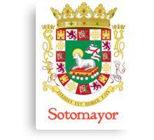 Sotomayor Shield of Puerto Rico Canvas Print