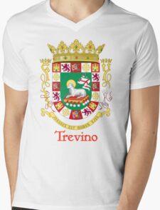 Trevino Shield of Puerto Rico Mens V-Neck T-Shirt
